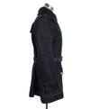Acne Studios Black Leather Brown Trim Trenchcoat Outerwear 2