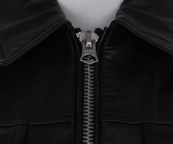 Acne Black Leather Jacket 6