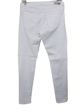 Ag White Cotton Denim Pants 1