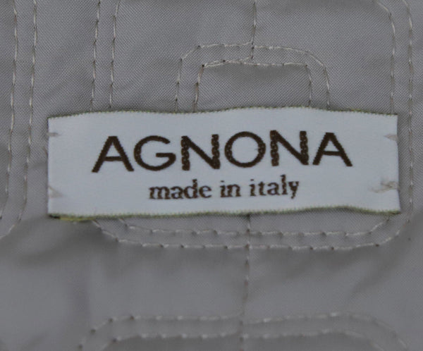 Agnona Beige Quilted Nylon Leather Trim Jacket 4