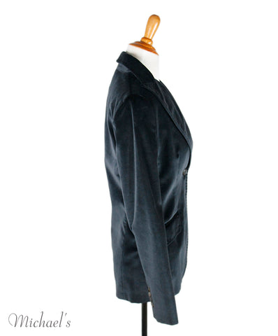Agnona Navy Velour Jacket Sz 40