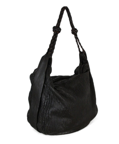 Agnona Brown Distressed Leather Bag 1