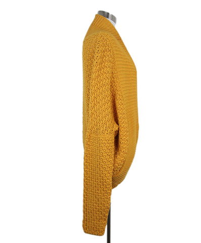 Agnona Yellow Mustard cardigan 1