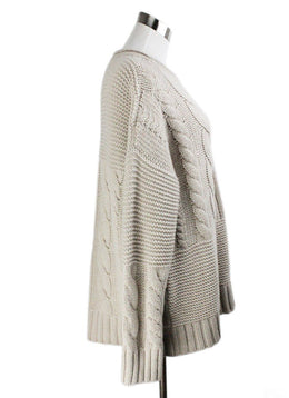 Agnona Beige Cashmere Cable Sweater 2