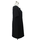 Agnona Black Wool and Silk Blend Dress Size Large