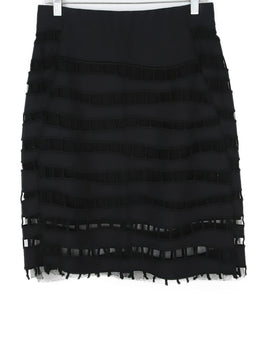 Akris Black Cotton Cutwork Illusion Skirt 1