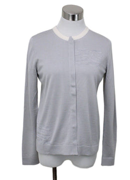 Akris Grey Cashmere Silk Sweater Set
