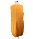Akris Orange Pleated Silk Dress 3