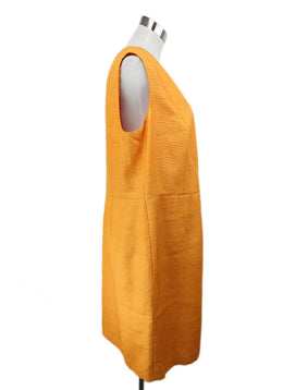 Akris Orange Pleated Silk Dress 2