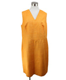 Akris Orange Pleated Silk Dress 1