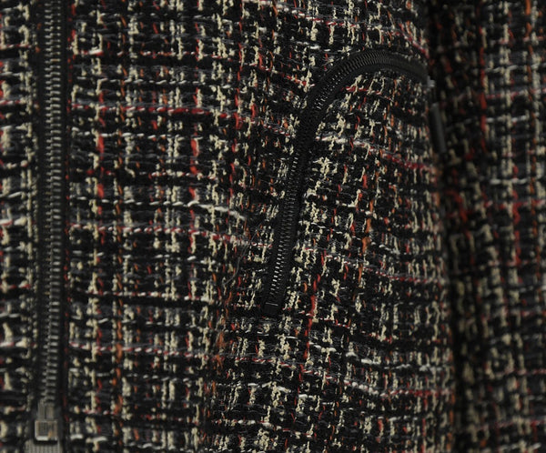 Akris Punto Black Beige Red Wool Tweed Jacket 5