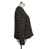 Akris Punto Black Beige Red Wool Tweed Jacket 2
