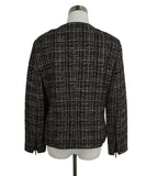 Akris Punto Black Beige Red Wool Tweed Jacket 3