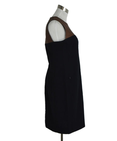Akris Punto Navy with Leather Accent Dress sz. 6 | Akris Punto