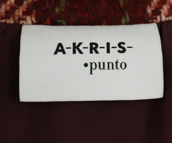 Akris Punto Pink Wine Green Tweed Wool Jacket 4