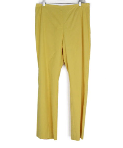 Akris Punto Yellow Cotton Pants 1