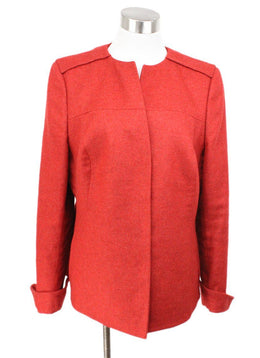 Akris Red Cashmere Silk Jacket 1