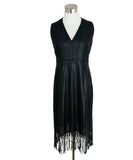 Akris Black Embroidery Fringe Dress 1
