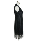 Akris Black Embroidery Fringe Dress 2