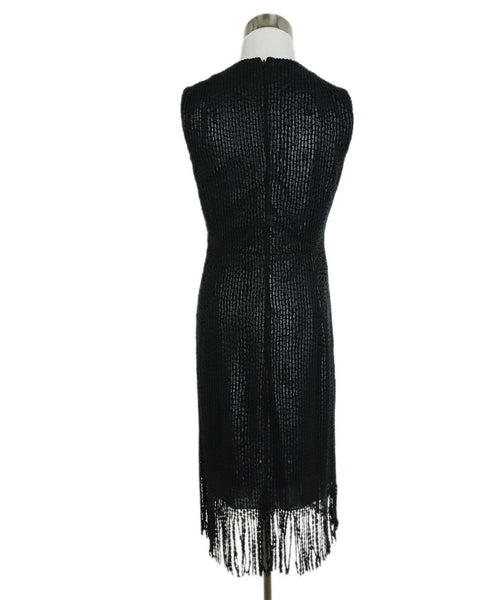 Akris Black Embroidery Fringe Dress 3