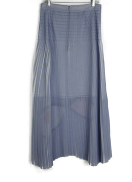 Akris Lavender Long Pleated Skirt 2