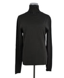 Mockneck Akris Brown Cashmere Beaded  Sweater 1