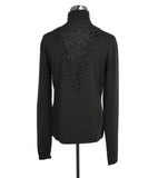 Mockneck Akris Brown Cashmere Beaded  Sweater 3