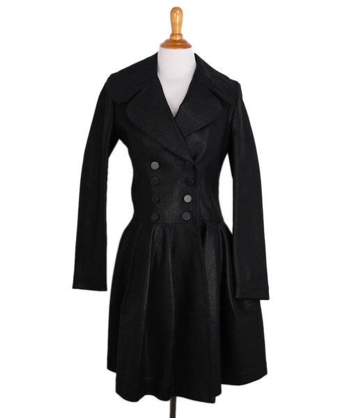 Alaia Black Cotton Denim Coat 1