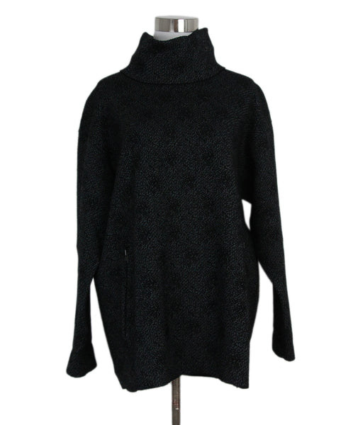 Alaia Black Grey Wool Tunic 1