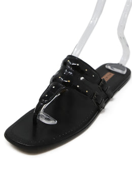 Alaia Black Leather Sandals 1