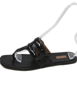 Alaia Black Leather Sandals 2