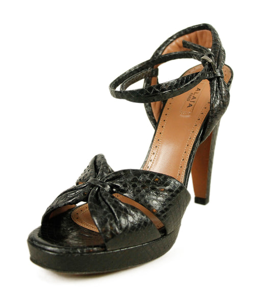 Alaia Black Python Shoes 1