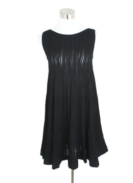 Alaia Black Viscose Polyester Dress 1