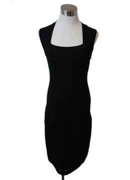 Alaia Black Viscose Wool Dress 1