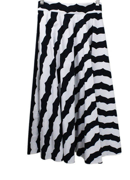 Alaia Black White Print Skirt sz 2