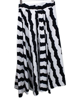 Alaia Black White Print Skirt 1