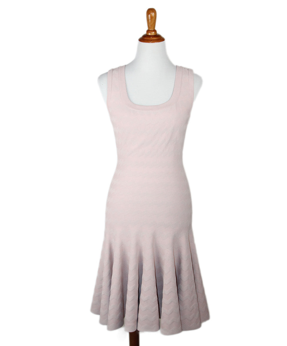 Alaia  Blush Viscose Dress Sz 40