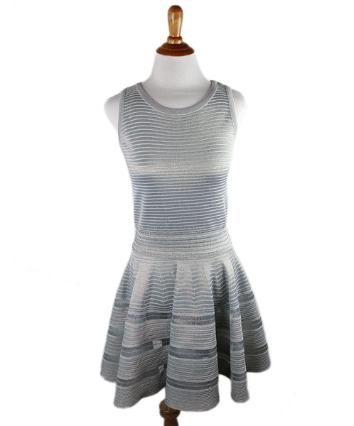 Alaia Metallic Blue Dress Sz 36