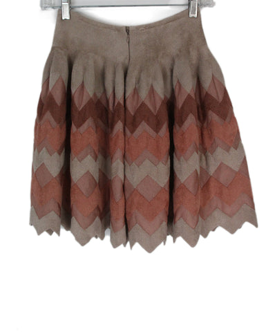 Alaia Pink Mauve neutral skirt 1