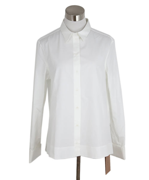 Alaia White Cotton Longsleeve Top 1