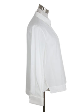 Alaia White Cotton Longsleeve Top 2