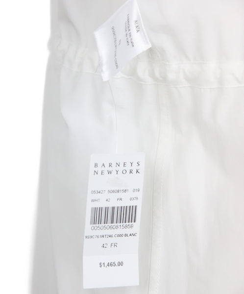 Alaia White Cotton Longsleeve Top 5