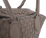 Alaia Neutral Beige Cutwork Leather Satchel  Handbag 7