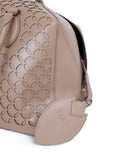 Alaia Neutral Beige Cutwork Leather Satchel  Handbag 10