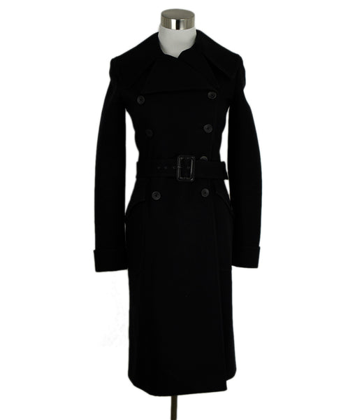 Alaia Black Cashmere and Wool Coat 1