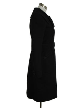 Alaia Black Cashmere and Wool Coat 2