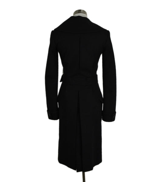 Alaia Black Cashmere and Wool Coat 3