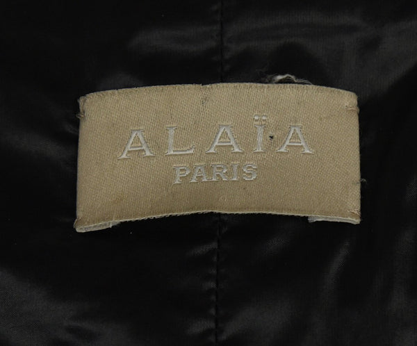 Alaia Black Cashmere and Wool Coat 4