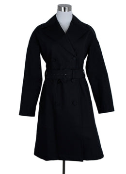 Alaia Black Cotton Polyurethane Trench Coat 1