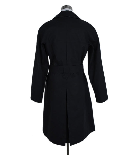 Alaia Black Cotton Polyurethane Trench Coat 3